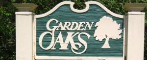 Garden Oaks Entry Sign